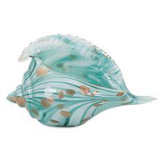 Beachcrest Home Glass Shell Sculpture
