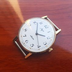 Russian Watch LUCH 2356 Quartz Mens Ultra Slim Made in USSR Gold-Plated-AU EXC!! #Luch #DressFormal