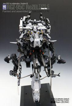 GUNDAM GUY: HGUC 1/144 RGZ-95C ReZEL Type -C Deep Ver. - Custom Build