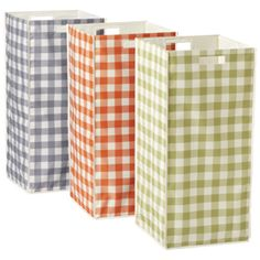 The Container Store > Gingham Rhombus Hamper