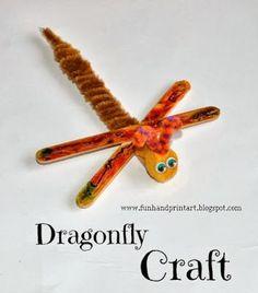 Popsicle Craft Stick Dragonfly #kidscrafts #EEKologist