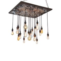 This compellingly brilliant Edison bulb chandelier brings in the old tin and bronze look, perfect for an eclectic or industrial modern feel. Hang in any room to bring visual interest and depth, and to ...  Find the Odéon Chandelier, as seen in the Magnolia Smokestack Collection at http://dotandbo.com/collections/magnolia-smokestack?utm_source=pinterest&utm_medium=organic&db_sku=97788