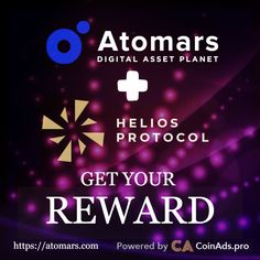 Don't miss your chance to win reward! Distribution date will be announced after the end of this competition, by the official Admin in the ATOMARS TG Community! Bitcoin Mining, Investors, Blockchain, Cryptocurrency, Competition, Campaign, Money Trading, Marketing, Business
