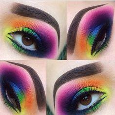 rainbow eyes with smashbox