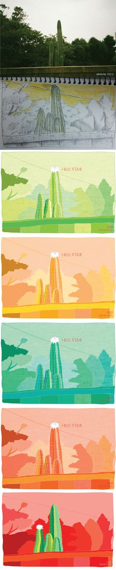 illustlation / artwork / design / photo / cactus / draw