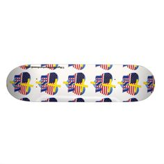 Love USA Cross Agrainofmustardseed.com Skateboards.  Shop now 4 #JesusSeason add name or initials to any gift 4Free! #Skateboards #ChristianSkateboards #ChristianProducts #Agrainofmustardseed #Gift4Him #gifts #ChristmasGifts #Zazzle