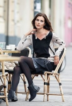 MISS TREND - PULL POIS + JUPE VOILE