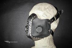 Steampunk Mask Leather Mask Burning Man Halloween Mask