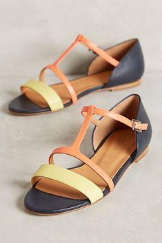 Paint Splatter T-Strap Sandal
