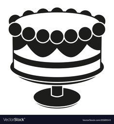 Best Photo of White Birthday Cakes . White Birthday Cakes Black And White Birthday Cake On Stand Silhouette Vector Image Best Birthday Cake Designs, Birthday Cake Clip Art, Yellow Birthday Cakes, Mum Birthday Gift, Happy Birthday Cake Topper, Adult Birthday Cakes, Birthday Cake Decorating, Happy Birthday Cakes, 30th Birthday