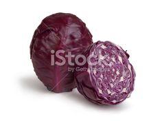 Chou, Chou rouge, Légume, Rouge, Coupe transversale Photo libre de droits