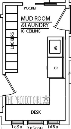 Trendy craft room layout floor plans pantries ideas – Home Office Design Layout Laundry Craft Rooms, Mudroom Laundry Room, Laundry Room Design, Mud Rooms, Laundry Bathroom Combo, Laundry Storage, Small Bathroom, Office Layout Plan, Home Office Layouts