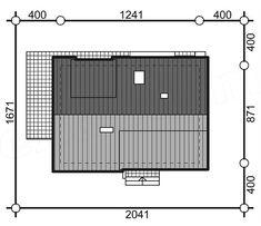 Projekt domu Aosta II Termo 130,27 m2 - koszt budowy 191 tys. zł - EXTRADOM Lockers, Locker Storage, House Design, Architecture, Modern, Furniture, Home Decor, Ceiling Ideas, Sun