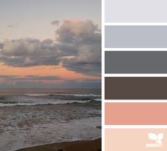 Beautiful beach sunset color inspiration for your home.