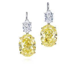 Harry Winston Yellow Diamond Drops