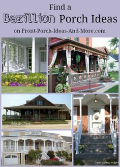 Want porch ideas? We have plenty! http://www.front-porch-ideas-and-more.com/front-porch-ideas.html #housedesign