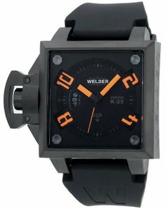 Welder by U-Boat K25 Black Ion-Plated Stainless Steel Mens Watch K25-4102 Welder. $316.79