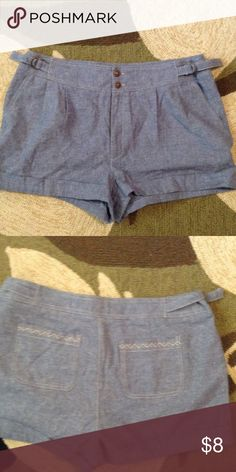 Denim shorts Boho chic print on back pockets, belt loops, great for on the go, light weight Shorts Jean Shorts