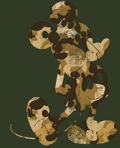 Camouflage Mickey Grahic Tee