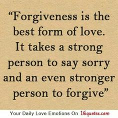 Learn forgiveness.