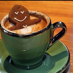 i love gingerbread guys and hot chocolate! How perfect!