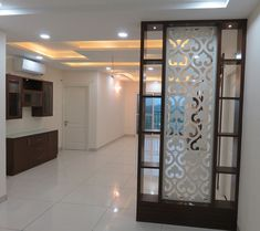 Wooden Partition Design, Wooden Partitions, Living Room Partition Design, Pooja Room Door Design, Room Partition Designs, Bedroom Door Design, Bedroom False Ceiling Design, Home Room Design, Home Interior Design