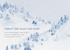 Snowy Slopes by Paperless Post. Send custom online holiday party invitations with our easy-to-use design tools and RSVP tracking. View more holiday invitations on paperlesspost.com. #holiday_parties  #holiday_invitations  #happy_holidays