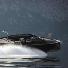 "Luxury Wooden Speed Boat ""Antagonist"" by Serbian Yacht Builder, Art of Kinetik"