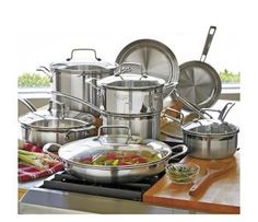 Cuisinart MultiClad Pro Cookware Set with Glass Lids, 14 piece. Order yours today!