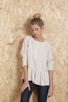 Blouse verso rice rice - blouse femme - harris wilson 2 Rachel Zoe, Tunic Tops, Blouse, Casual, Rice, Trends, Outfits, Women, Style