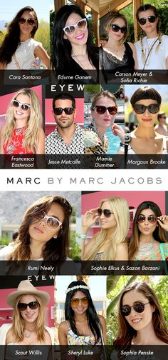 Hangin' Poolside with Marc by Marc Jacobs at Coachella: http://eyecessorizeblog.com/?p=5748