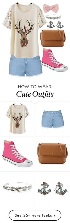 """""""Cute Casual Outfit"""" by sarahlong3019 on Polyvore featuring Child Of Wild, Decree, Ally Fashion, Tory Burch, Converse, Betsey Johnson, women's clothing, women, female and woman"""