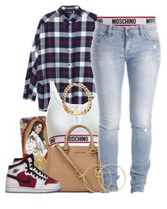 """Untitled #1353"" by lulu-foreva ❤ liked on Polyvore featuring Monki, Moschino, Michael Kors, CO, Melissa Odabash and Retrò"