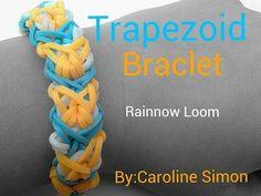 TRAPEZOID Rainbow Loom Bracelet. Designed and loomed by Caroline Simon. Click photo for YouTube tutorial.