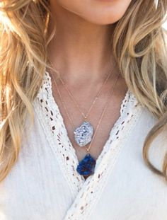 Druzy Chunk Necklace in Blue  http://rstyle.me/n/tnc8ipdpe