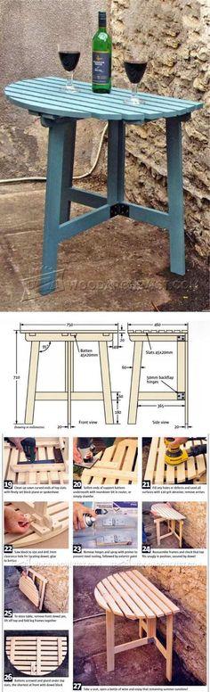 Folding Outdoor Table Plans - Outdoor Furniture Plans and Projects   WoodArchivist.com   WoodArchivist.com