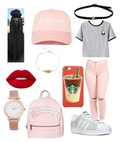 """""""Sans titre #127"""" by pvris1601 on Polyvore featuring mode, Chicnova Fashion, Lime Crime, Larsson & Jennings, adidas et Sugarbaby"""