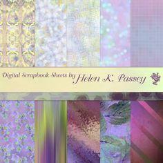 Purple Fantasy Blossom Digital Scrapbook Paper by VagrantAirs