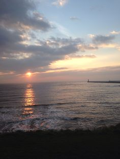 King Edwards bay sun rise tynemouth 7.02 am Sunday 9 th march 2014