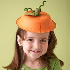Painted Halloween Pumpkin Hat - So cute.