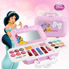 Disney Cosmetics Set Toy Make Up Kits Cute Play House Children Gift Kids Makeup Toy Pretend Play Kid Makeup Set Safety Disney Princess Makeup, Princess Toys, Disney Makeup, Makeup Kit For Kids, Kids Makeup, Makeup Ideas, Birthday Gifts For Girls, Girl Birthday, Gifts For Kids