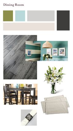 Dining Room Colors (blue walls, white stripe accents)