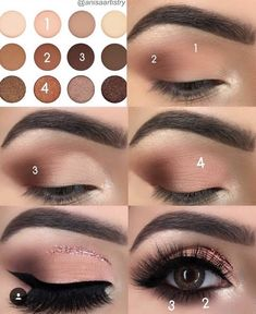 68 Ideas For Eye Makeup Step By Step Eyeliner Make Up - Makeup İdeas Fairy Eye Makeup Steps, Simple Eye Makeup, No Eyeliner Makeup, Hand Makeup, Nice Makeup, Eyeliner Ideas, Eyeliner Pencil, Eye Makeup Remover, Makeup Style