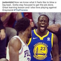 @joelembiid still managed to talk trash in social media  - Tags: #sports #sportsislife #basketball #nba #philadelphia #philly #sixers #warriors #savage #lol #joelembiid #sunday #repost
