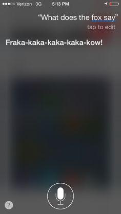 OMG lolol Siri