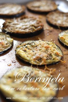 Low-carb au gratin eggplant - Almost like a mini pizza - fit eat/low carb - Low Carb Recipes, Vegetarian Recipes, Cooking Recipes, Healthy Recipes, Low Carp, Low Carb Diet, Light Recipes, Food And Drink, Favorite Recipes