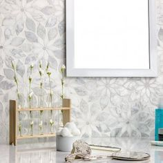 Wildflower Winds Breath Marble Tile | TileBar.com
