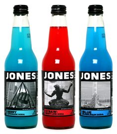 Jones Soda Co. uses iconic Michigan images on their Made in Michigan limited-edition bottles, including The Joe Louis Fist, The Spirit of Detroit and the Mackinac Bridge Walk.
