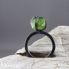 Caged Stone ring