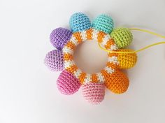 Rattle Teething toy Baby rattle Baby toy Rainbow toy Gift for Crochet Snail, Crochet Baby Toys, Crochet Teddy, Easter Crochet, Crochet Patterns Amigurumi, Crochet Dolls, Baby Boy Gifts, Toddler Gifts, Newborn Toys